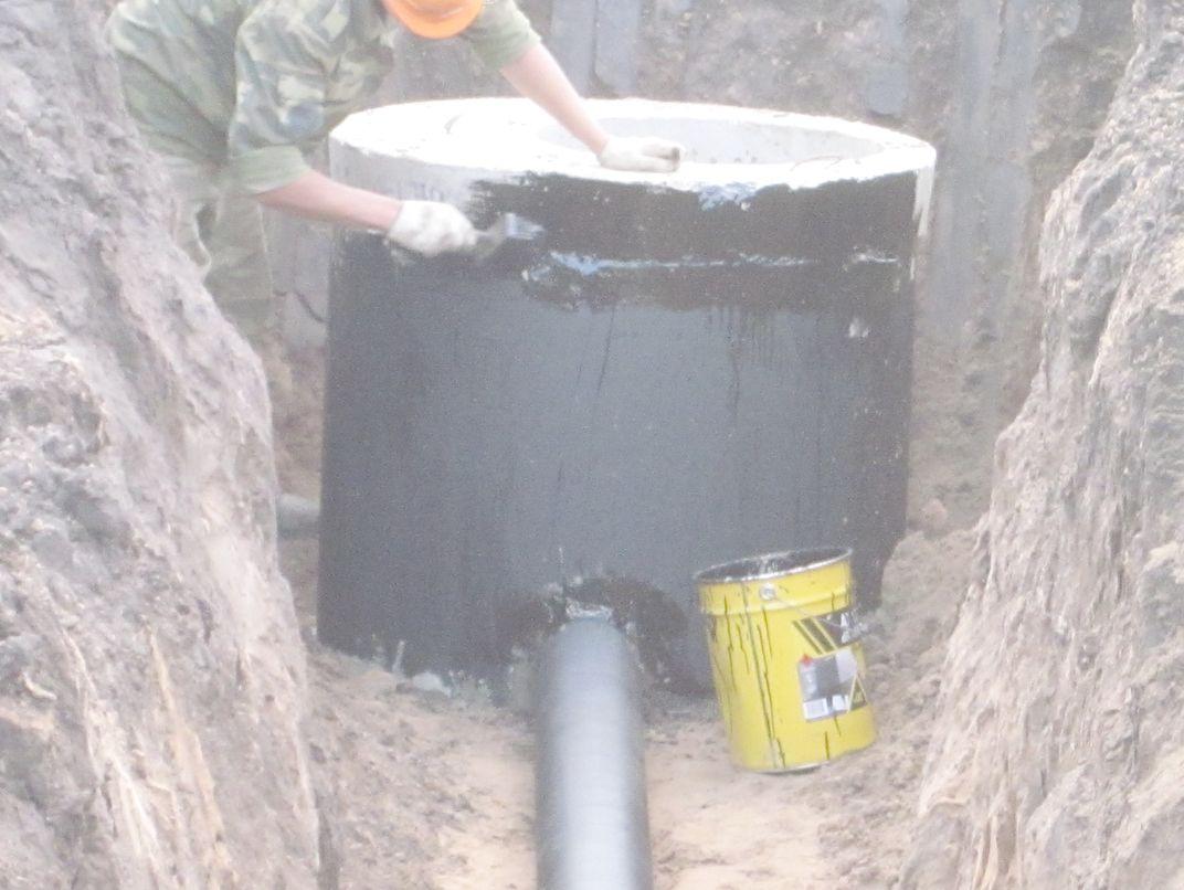 смесь для гидроизоляции бетонных колец