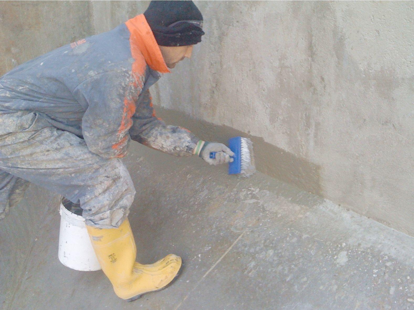 зачищенный бетон